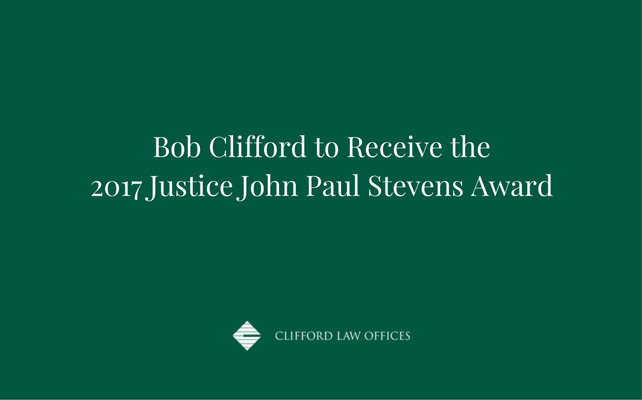 Bob Clifford to Receive the 2017 Justice John Paul Stevens Award.png