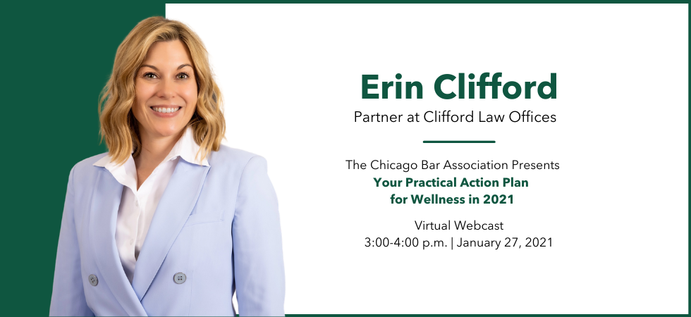Erin Clifford to Lead Wellness Webcast for the Chicago Bar Association